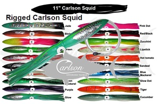 "Carlson Squid 11"" Rigged"
