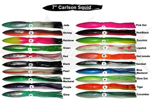 "Carlson Squid 7"" Rigged"
