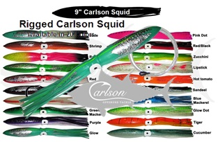 "Carlson Squid 9"" Rigged"
